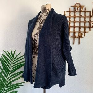 Zara Knit Navy Open Front Cardigan Sweater